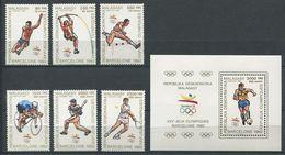 272 - MADAGASCAR 1989 - Yvert 947/52 BF 61 - Sport JO Barcelone - Neuf ** (MNH) Sans Trace De Charniere - Madagascar (1960-...)
