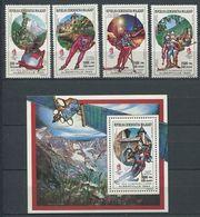 272 - MADAGASCAR 1990 - Yvert 964/67 BF 64 - Sport JO Hiver Alberville - Neuf ** (MNH) Sans Trace De Charniere - Madagascar (1960-...)