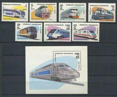272 - MADAGASCAR 1993 - Yvert 1317/23 BF 90 - Locomotive Du Monde TGV - Neuf ** (MNH) Sans Trace De Charniere - Madagascar (1960-...)