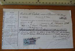 Maître CADART à CHAUMONT (HAUTE-MARNE) - Année 1924 ??  Avec Timbre - France