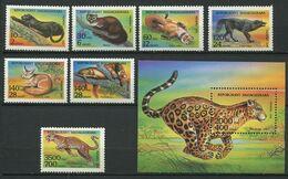 272 - MADAGASCAR 1994 - Yvert 1352/58 BF 94 - Animaux Feroces - Neuf ** (MNH) Sans Trace De Charniere - Madagascar (1960-...)