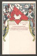 Carte P De 1901 ( Souvenir De La Fête 1 Juin / Dèbarquement Des Suisses , Au Port Noir ) - Inaugurations