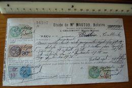 Maître MOUTON à CHAUMONT (Haute-Marne) - Année 1928  - Avec Timbres - France