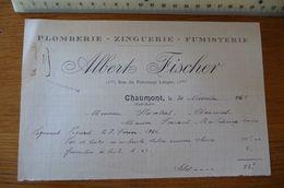 Plomberie... ALBERT FISCHER à CHAUMONT (Haute-Marne) - Année 1941 - France