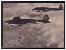 DT- Reich (009008) Propagandakarte Kampfflugzeuge He111 In Der Nordsee Beim Angriffsflug Gegen Englische, Ungebraucht - Germany