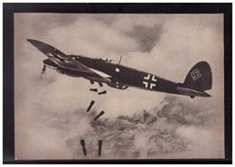 DT- Reich (008932) Propagandakarte Bombenschächte Auf! Bomben Laufen In Die Tiefe Und Vernichten, Ungebraucht - Germany