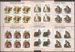 KV277 2002 GUINEA FAUNA BIRDS OWLS CHOUETTES ET HIBOUX !!! 6SET MNH - Owls
