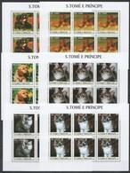 KV085 2003 SAO TOME & PRINCIPE FAUNA PETS CATS & DOGS !!! 6SET MNH - Chats Domestiques