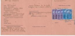 Carte Identité Commerçant étranger 1974, Matthews Léonard, Président Léo BURNETT COMPANY, (publicitaire) Avec 6 Fiscaux - Revenue Stamps