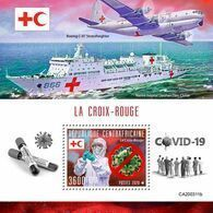 CENTRAL AFRICA 2020 - Red Cross, COVID-19, S/S Official Issue [CA200311b] - Maladies