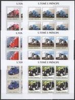 KV049 2003 SAO TOME & PRINCIPE TRANSPORT AUTOMOBILES CARS TRUCKS !!! 6SET MNH - Trucks