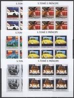KV099 2003 SAO TOME & PRINCIPE TRANSPORT HISTORY SMALL CARS !!! 6SET MNH - Coches