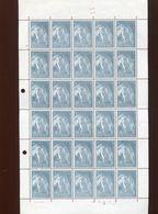 Belgie 1965 1334 Abbey Affligem Beer Abbaye FULL SHEET Plaatnummer 4 (see Scan) - Full Sheets