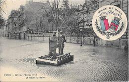 Carte Vendue Au Profit Des Sinistrés - PARIS - Janvier-Février 1910 - Le Cours-la-Reine - Floods