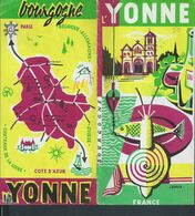 DEPLIANT PUBLICITAIRE ILLUSTRÉE L YONNE + PLAN TOUT NE SERA PAS SCANNER PETITE DECHIRURE : - Werbung
