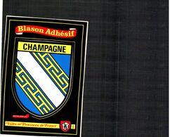 Blason Adhésif De La CHAMPAGNE (KROMA) - Postcards