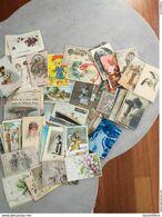 Lot De 150 Cartes Fantaisie - Thèmes Divers - Femmes, Fleurs, Animaux, Illustrations... Lot N° 1 - Cartoline