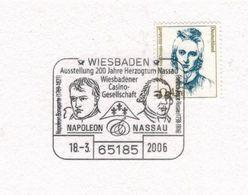 200 Jahre Herzogtum Nassau - Napoleon Bonaparte - Wiesbadener Casino Gesellschaft - 65185 2006 Friedrich - Napoleon
