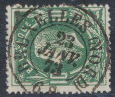 """émission 1869 - N°30 Obl Double Cercle """"Bruxelles (Nord)"""" Luxe ! / COBA : 15. Collection Spécialisée. - 1869-1883 Leopoldo II"""