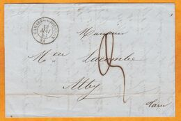 1846 - Lettre Pliée Avec Correspondance De Camarès Sous Dourdou, Aveyron Vers Alby Albi, Tarn - Marcophilie (Lettres)