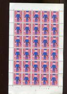 Belgie 1969 1511 Jeugdfilatelie Facteur Children's Drawing  Luppi Full Sheet MNH Plaatnummer 2 - Full Sheets
