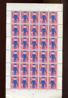 Belgie 1969 1511 Jeugdfilatelie Facteur Children's Drawing  Luppi Full Sheet MNH Plaatnummer 3 - Full Sheets