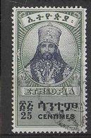 ETHIOPIA - 1942 - SERIE ORDINARIA - IMPERATORE - 25c. - USATO (YVERT 224 - MICHEL 201) - Ethiopia
