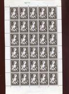 Belgie 1970 1556 Xmas Kerstmis Noel Painting Madonna Jan Gossaert Mabuse Luppi Full Sheet MNH Plaatnummer 3 - Full Sheets