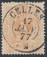 """émission 1869 - N°28 Obl Double Cercle (DC) """"Celles"""". Superbe !  / COBA : 15.  Collection Spécialisée. - 1869-1883 Leopoldo II"""