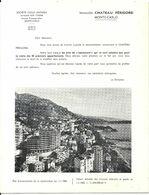 MONTE CARLO . CHATEAU PERIGORD . DOSSIER DE VENTE + PRIX - Werbung