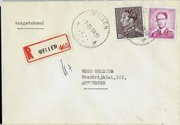 Doc. De WELLEN - A A - Du 07/11/69 En Rec. ( E ) - Marcophilie