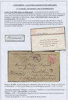 Page De Collection - Devant De Lettre + N°20 Obl Pt 60 çàd Bruxelles 21/5/69 + Griffe Encadrée RECOMMANDE Et Manusc. Cha - 1865-1866 Profil Gauche