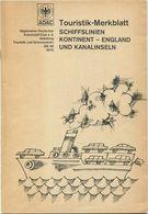 ADAC 1970 - Touristik- Merkblatt - Schiffslinien Kontinent England Und Kanalinseln - 34 Seiten - Folletos Turísticos