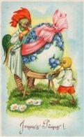 B70965 Cpa Fantaisie - Joyeuses Pâques - Pasqua