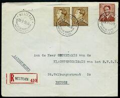 Doc. De WESTENDE - Touristique - Du 29/09/59 En Rec. ( E ) - Marcophilie