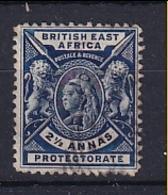 British East Africa: 1896/1901   QV     SG68    2½a   Deep Blue   Used - Kenya, Uganda & Tanganyika