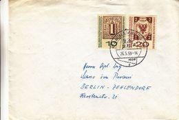 République Fédérale - Lettre De 1959 - Oblit Hamburg - Timbres Sur Timbres - - [7] Federal Republic