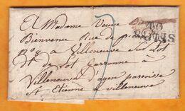 1827 - Marque Postale 40 Blois Sur Lettre Pliée Avec Corresp Filiale De 3 Pages Vers Villeneuve D'Agen, Lot Et Garonne - Marcophilie (Lettres)