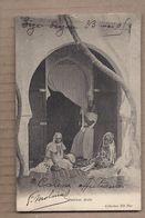 CPA AFRIQUE DU NORD - Intérieur Arabe - TB PLAN ANIMATION Jeunes Femmes En Costume- CP Voyagée 1905 - Unclassified