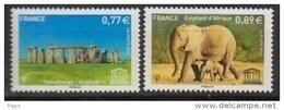2012-N° 154/155** ANGLETERRE ET ELEPHANTS - Mint/Hinged