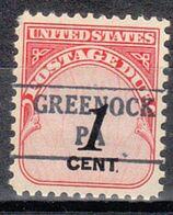 USA Precancel Vorausentwertung Preo, Locals Pennsylvania, Greenock 882 - Estados Unidos