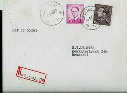 Doc. De WEZEMAAL - B B - Du 04/06/66   En Rec. ( E ) - Marcophilie