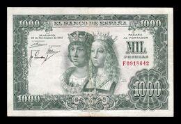 España 1000 Pesetas Reyes Católicos 1957 Pick 149 Serie F BC/MBC F/VF - 1000 Peseten