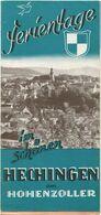 Deutschland - Hechingen 1950 - Faltblatt Mit 6 Abbildungen - Beiliegend Hotel- Und Gaststättenverzeichnis - Folletos Turísticos