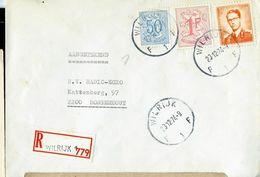 Doc. De WILRIJK - F 1 F - Du 23/12/74   En Rec. ( E ) - Marcophilie
