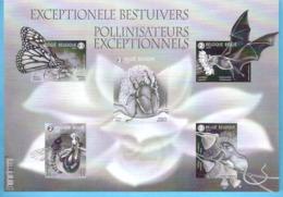"""Entomologie-Insecte-Belgïe-Belgique-2019-Pollinisateurs Exceptionnels-Ongetand-Non Dentelé-F. Noir/Blanc-cachet """"bpost"""" - Blocks & Kleinbögen Schwarz"""