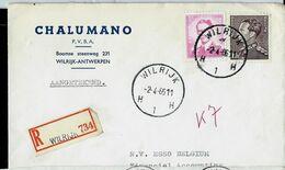 Doc. De WILRIJK - H 1 H - Du 02/04/66   En Rec. ( E ) - Marcophilie