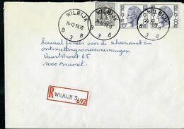 Doc. De WILRIJK - B 3 B - Du 24/12/76  En Rec. ( E ) - Marcophilie
