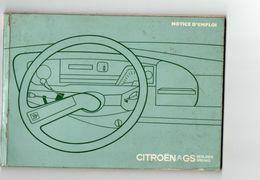 712z  Automobile Tacot Citroen GS Notice D'emploi 1974 - Auto