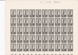 519 - XX - BEFFROI BRUGES - FULL SHEET - 100 T - Avec Env / Met Ongeveer 25 Var/cur - Full Sheets